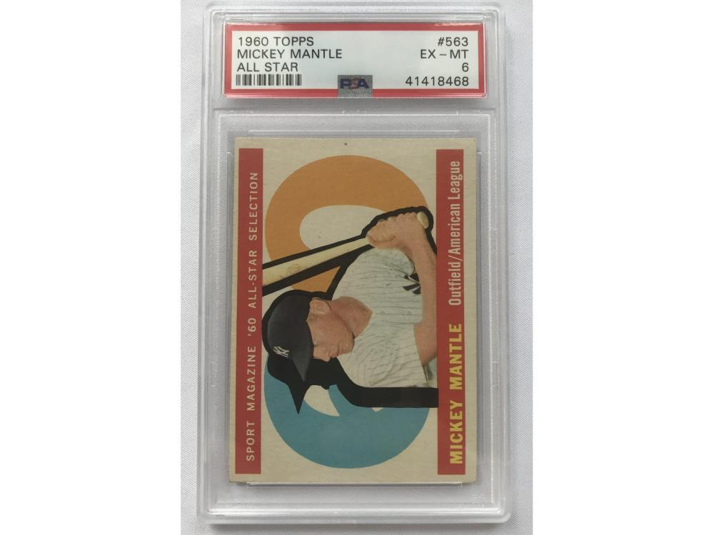 Psa 6-1960 Topps (as) Mickey Mantle #563