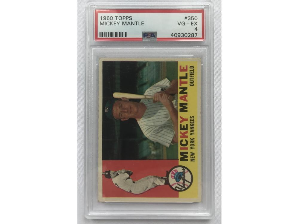 Psa 4 - 1960 Topps Mickey Mantle #350
