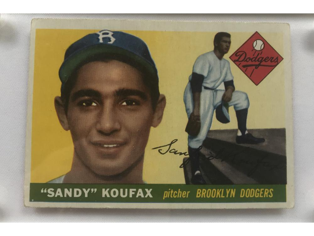 Centered-1955 Topps Sandy Koufax Rookie