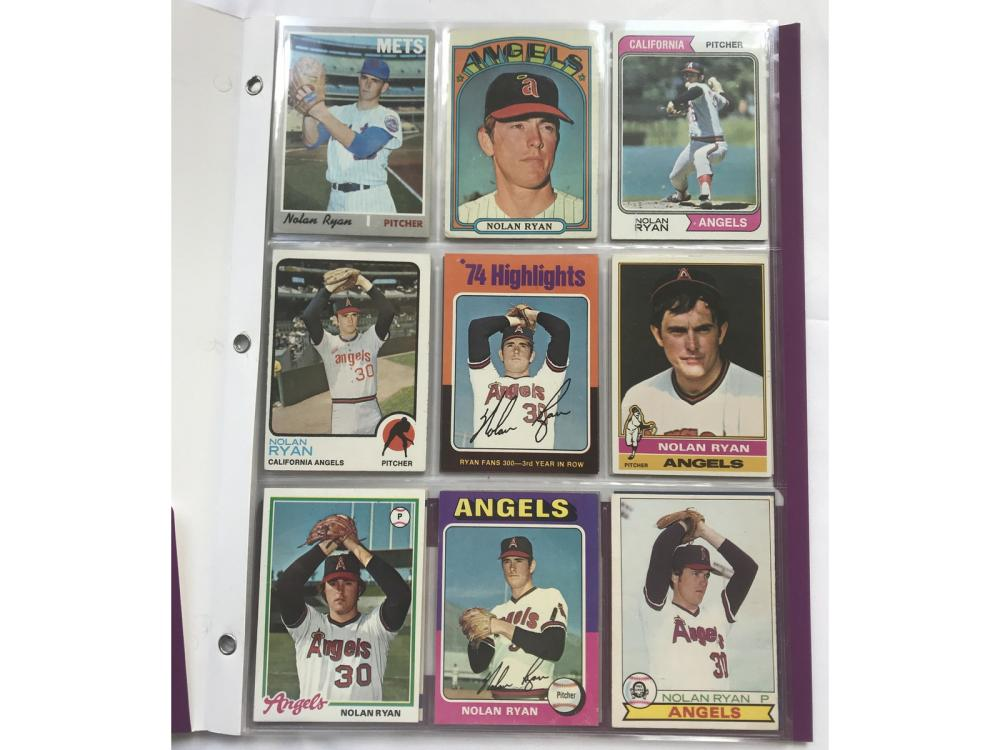 (25) Different 1970s/80s Nolan Ryan Cards
