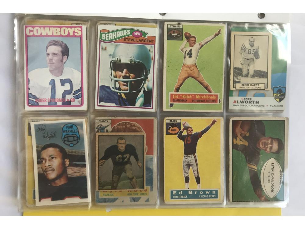 (48) Estate Collection Vintage Football W/ Rookies