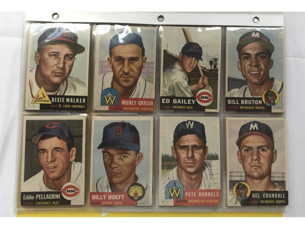 (31) Different 1953 Topps Bv $755 (rcs/sp)