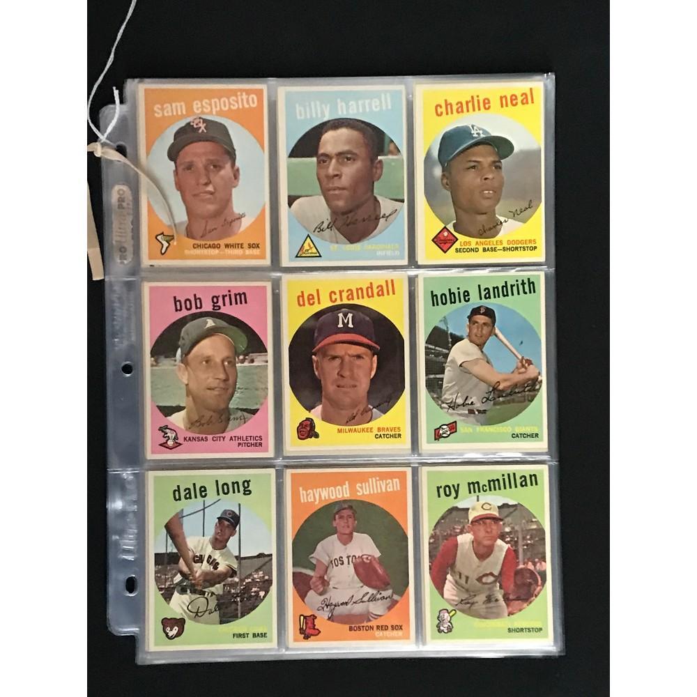 117 1959 Topps Baseball High Grade Cards