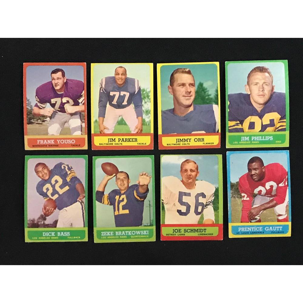 Over 200 1963 Topps Football Cards