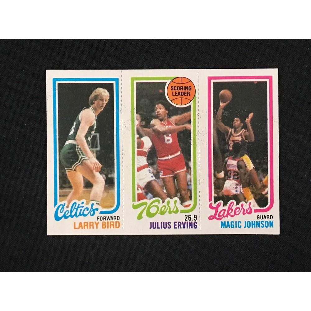 1980 Topps Basketball Bird/magic Rookie Near Mint
