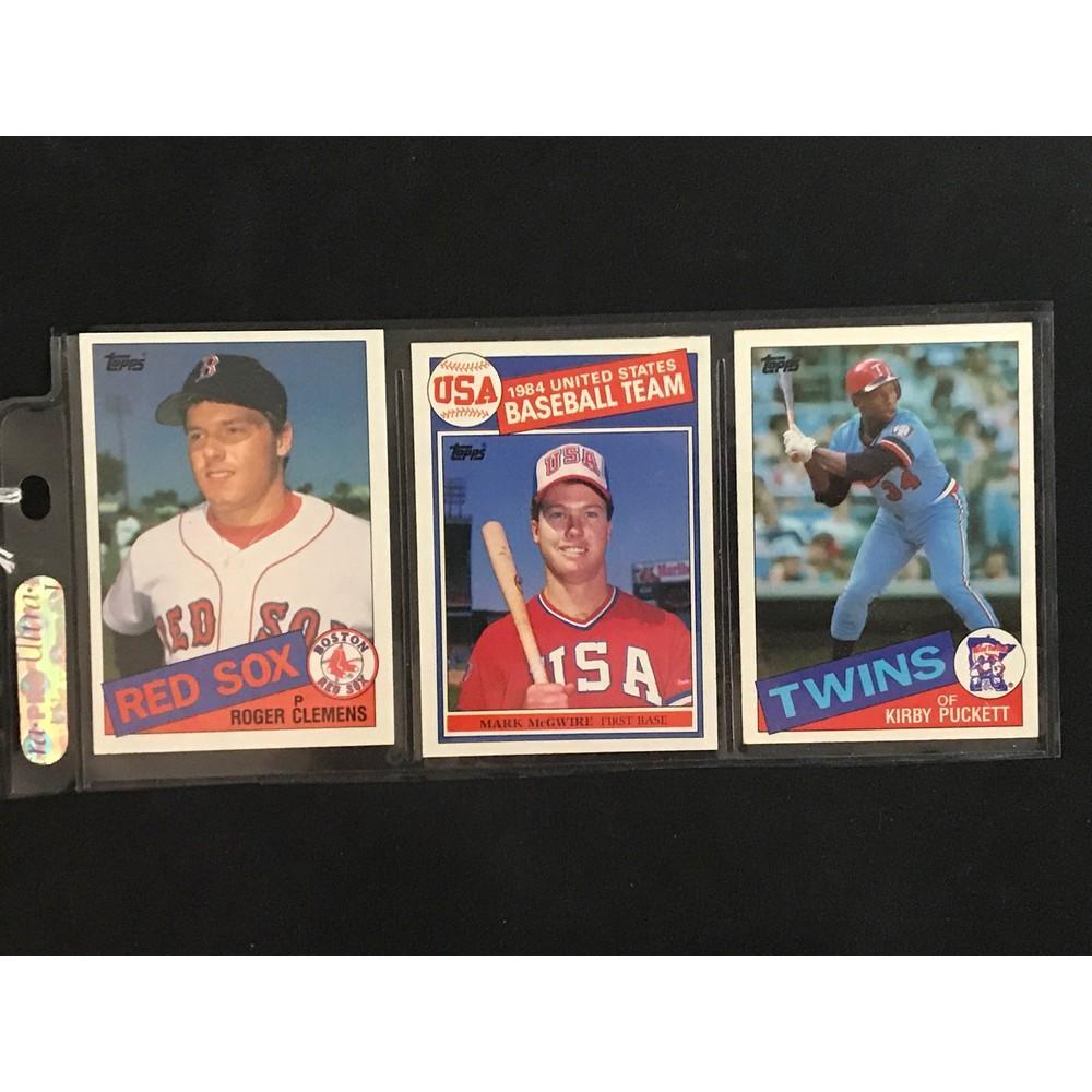 Three 1985 Topps Baseball Rookies
