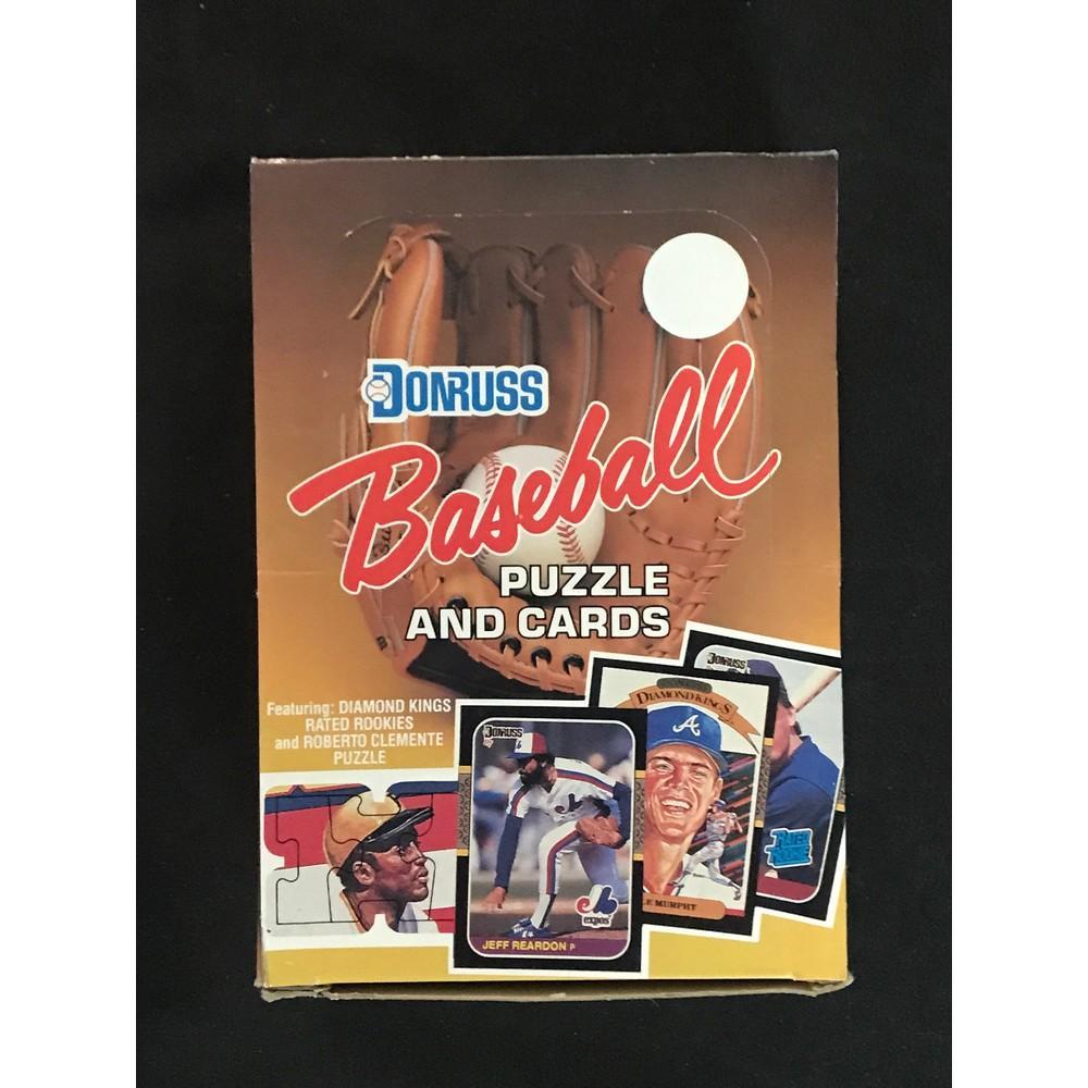 1987 Donruss Baseball Full Wax Box