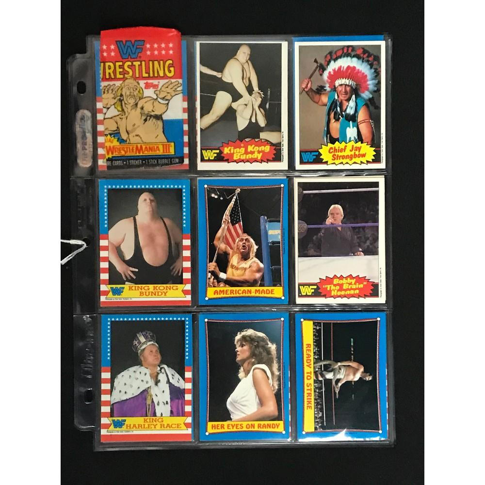 17 1980's Wrestling Cards With Hogan