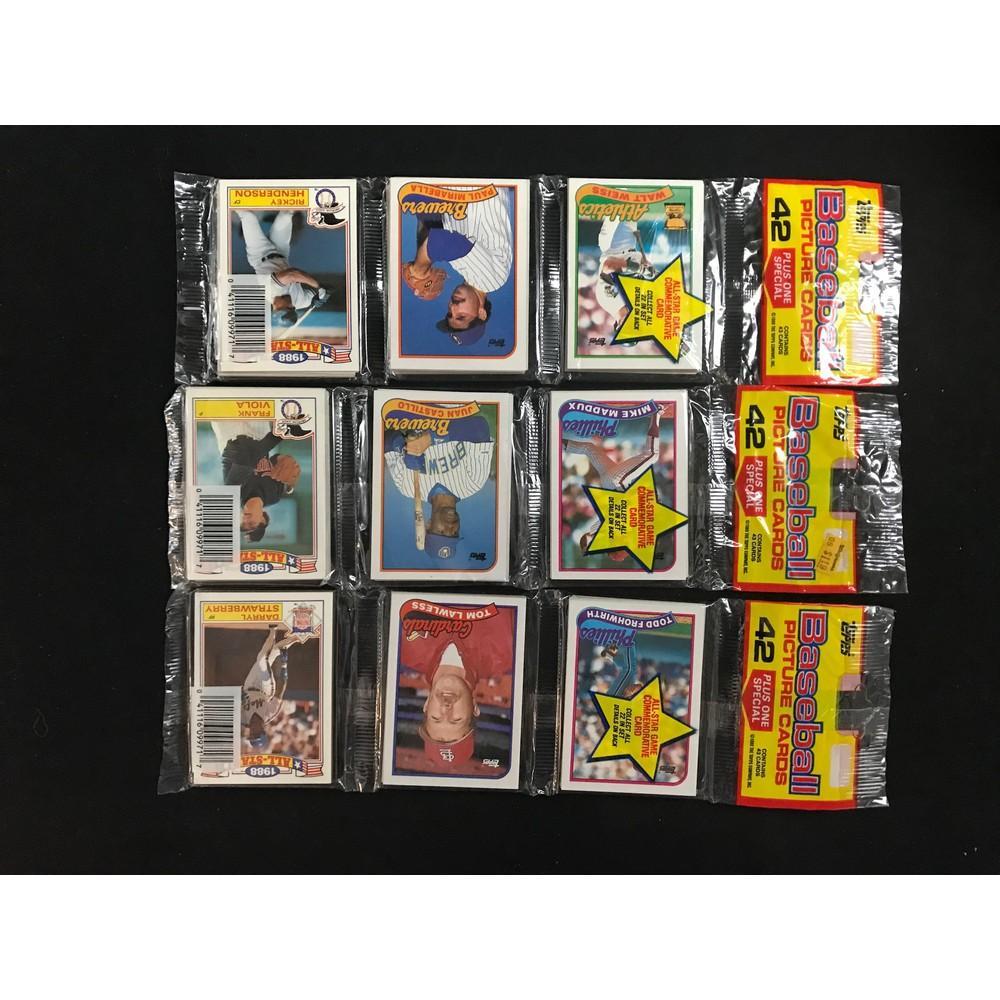 10 1989 Topps Baseball Rack Packs