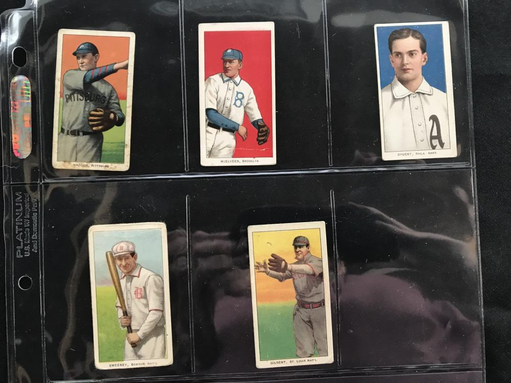 5 T206 Cards Polar Bear/sweet Cap/piedmont
