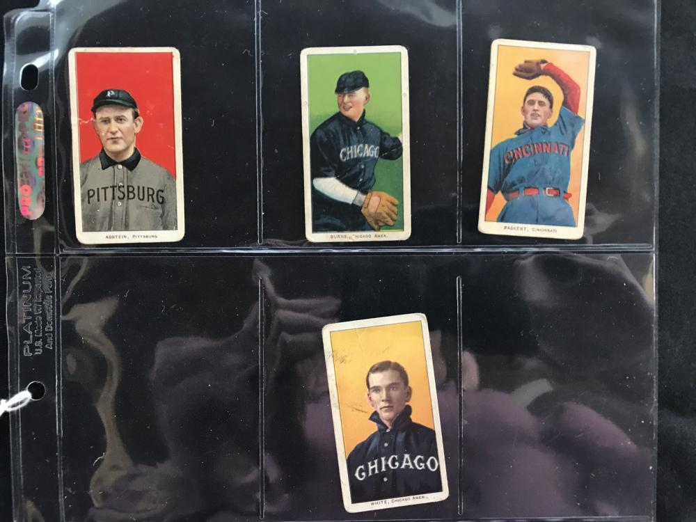4 T206 Cards Piedmont/sweet Cap Backs