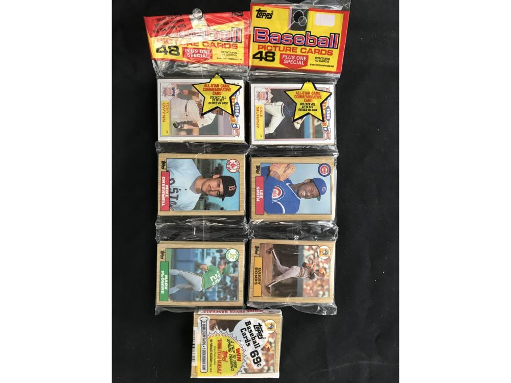 3 1987 Topps Baseball Unopened Rack Packs
