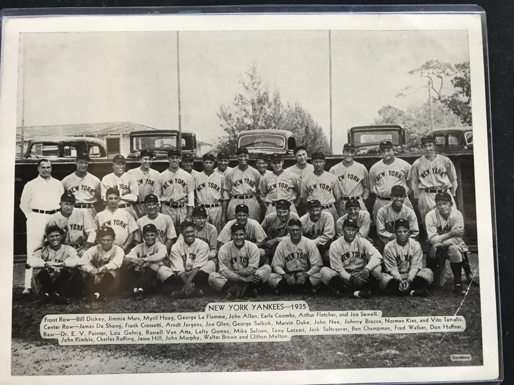 1936 R311 Glossy Ny Yankees Photo