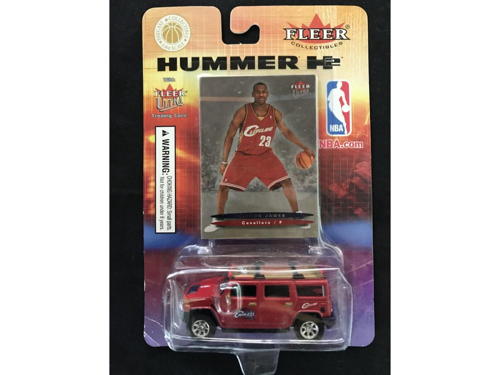 2003 Fleer Ultra Lebron James Rookie And Hummer