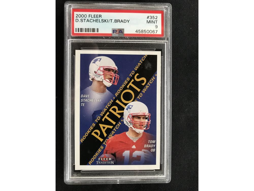 2000 Fleer Tom Brady Rookie Psa 9