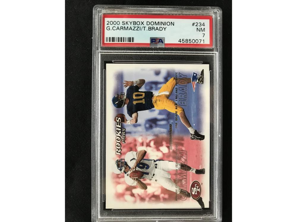 2000 Skybox Dominion Tom Brady Rookie Psa 7