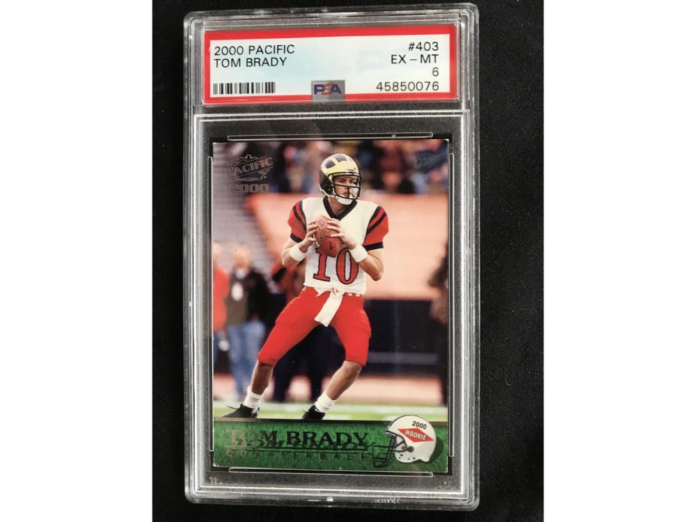 2000 Pacific Tom Brady Rookie Psa 6