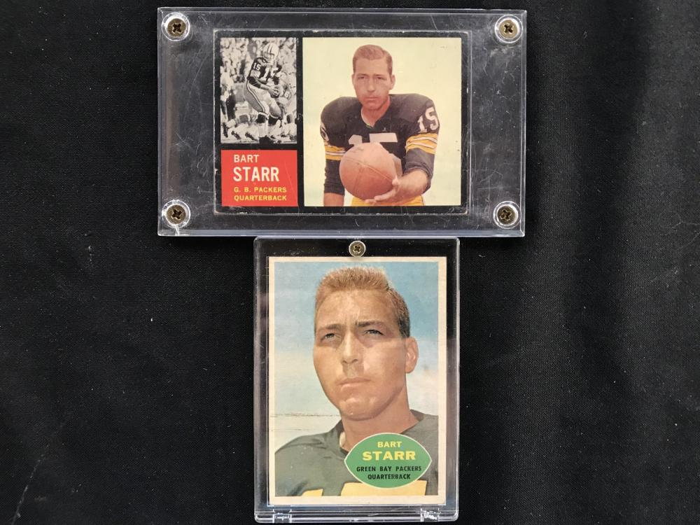 Two Vintage Bart Starr Cards 1960, 1962