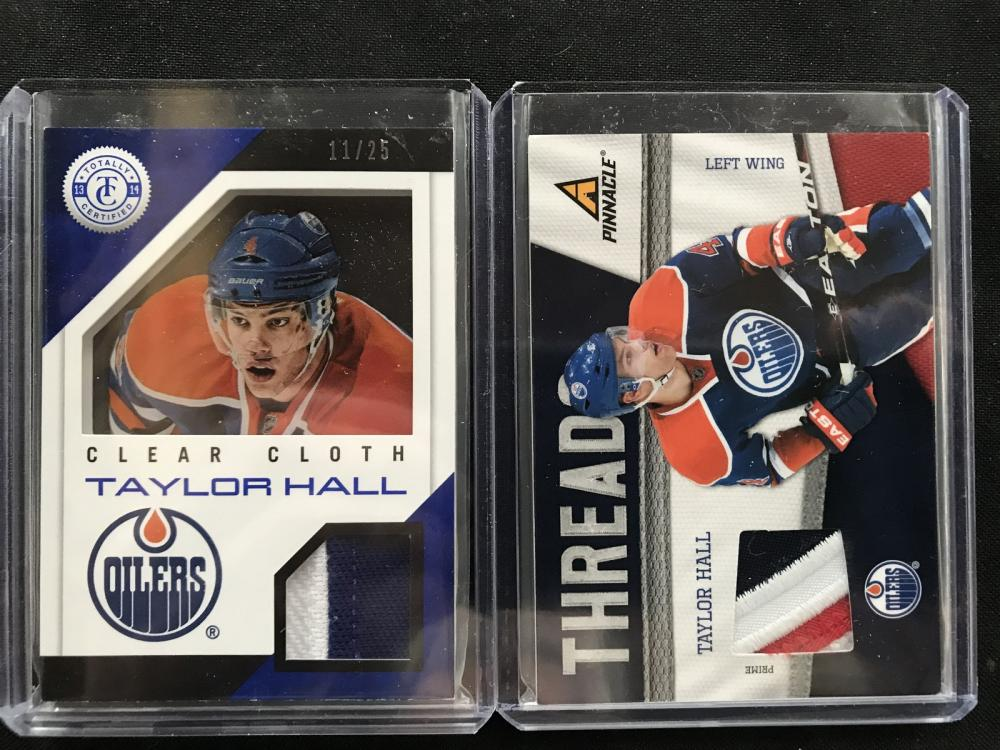 Pair Of Taylor Hall Numbered Jersey Cards