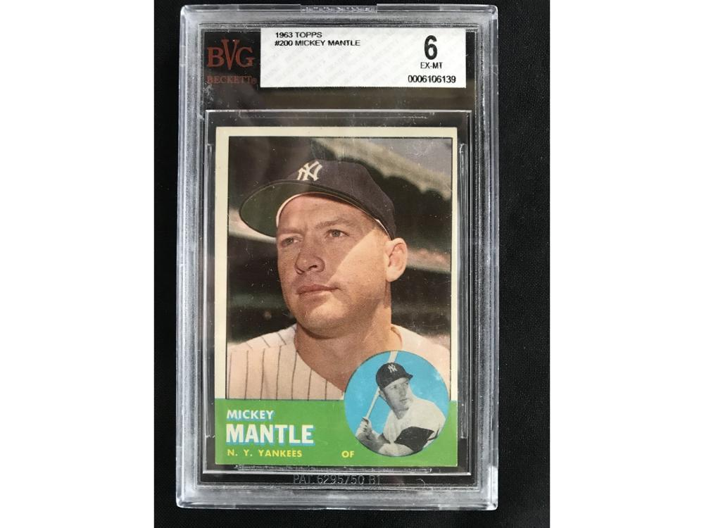1963 Topps Mickey Mantle Bvg 6