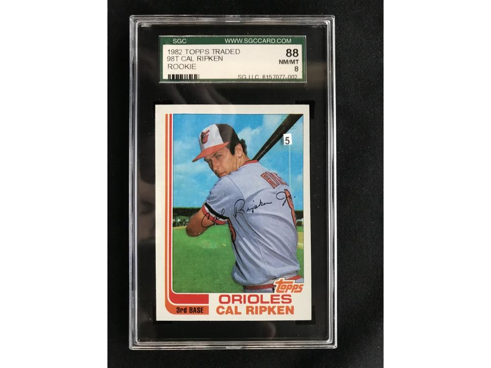 1982 Topps Traded Cal Ripken Rc Sgc 88