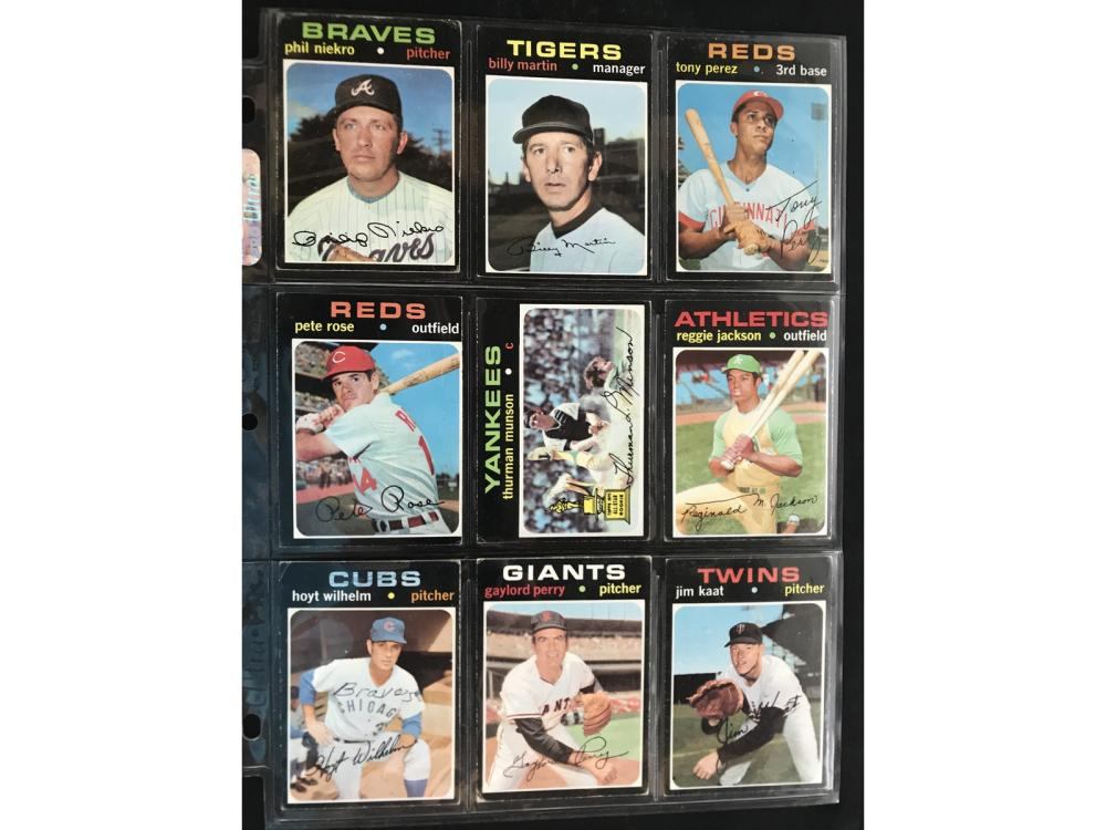 753 1971 Topps Baseball Cards Vg+ Condition