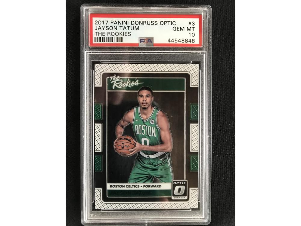 2017 Panini Donruss Optic Jayson Tatum Rc Psa 10