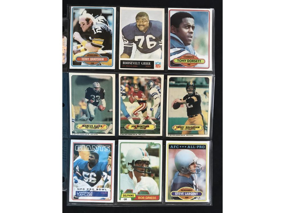 Over 1500 1964-1987 Football Cards