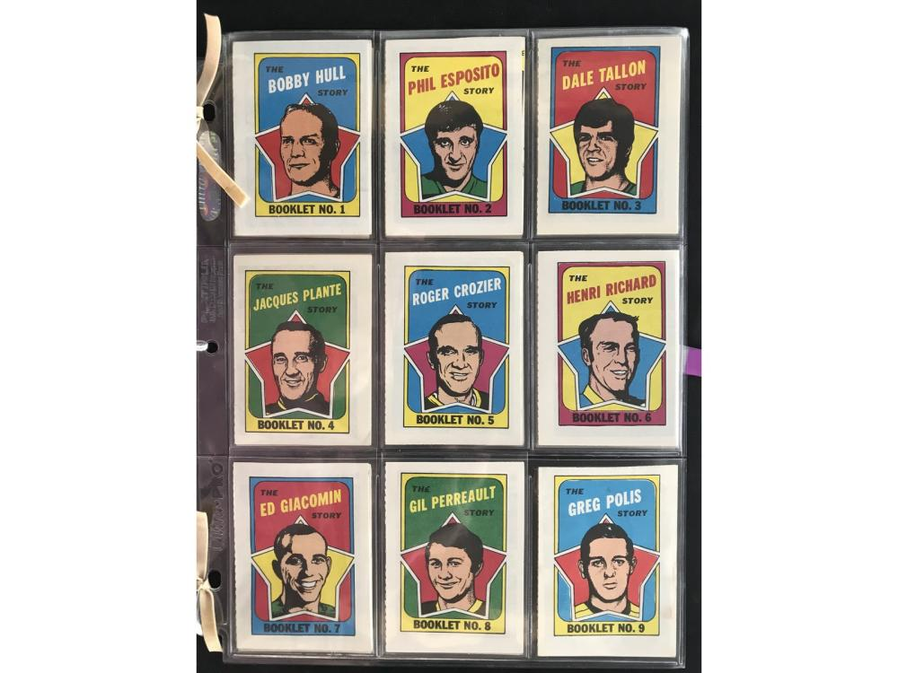 1971-72 Topps Hockey Booklet Set Mint