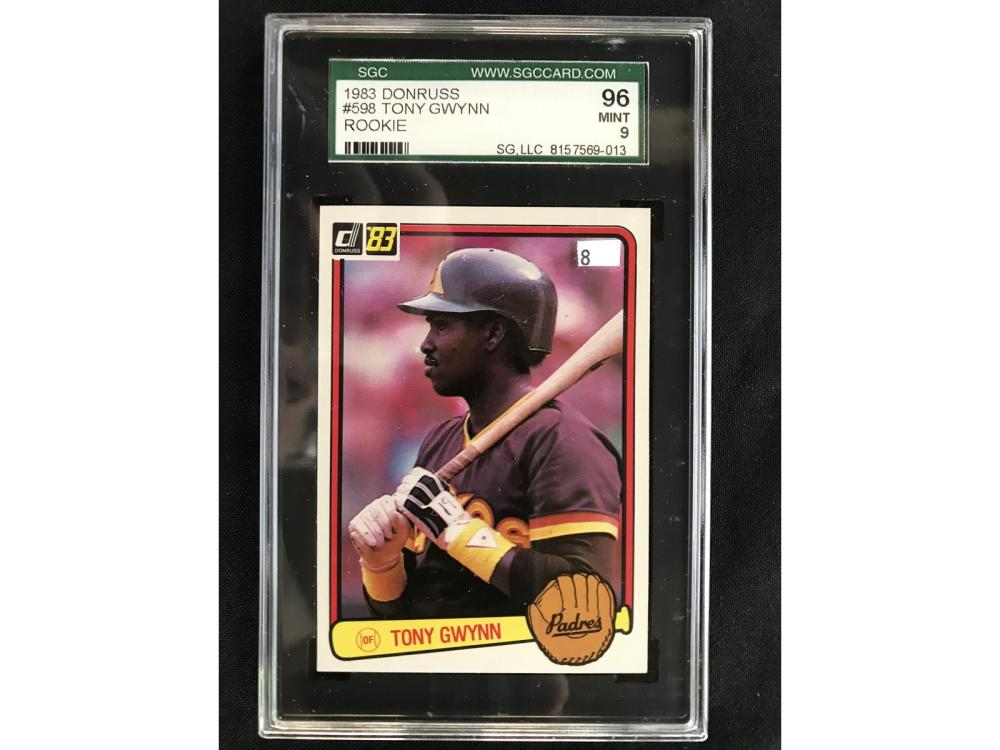 1983 Tony Gwynn Rookie Sgc 96 Mint 9