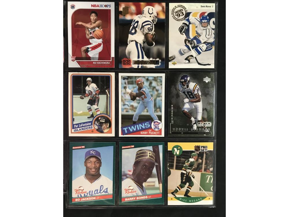 9 Mixed Sports Rookie Cards With Hof