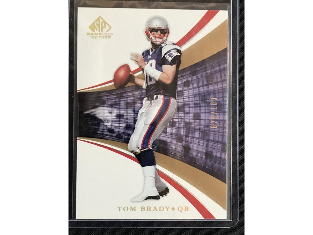 2004 Sp Tom Brady Numbered To 100