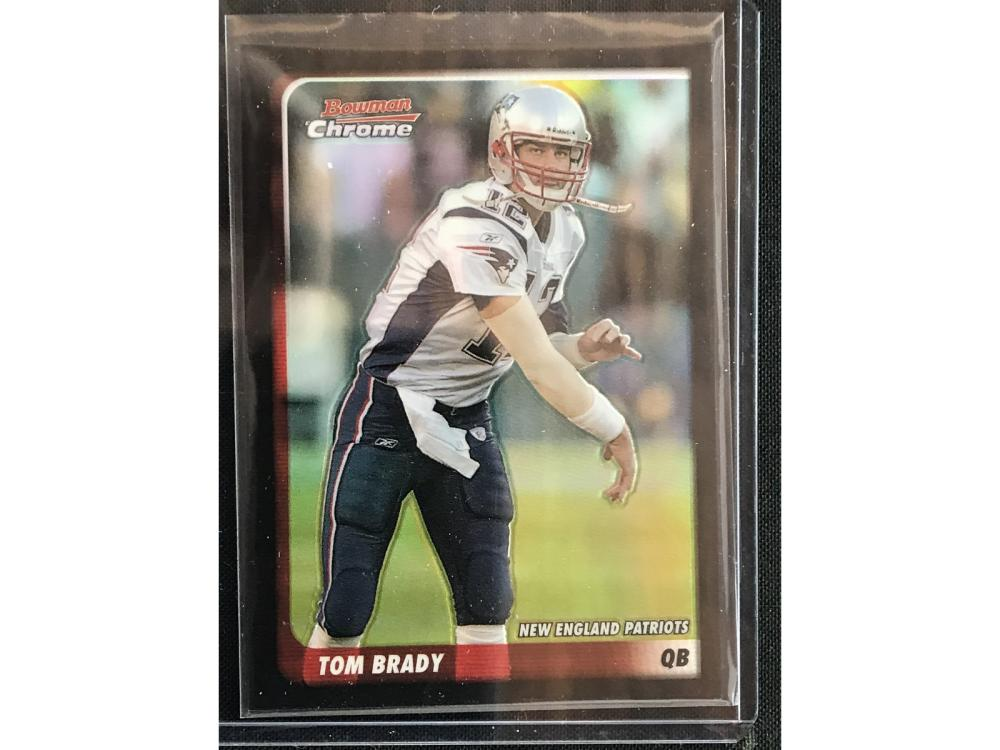 2003 Bowman Chrome Tom Brady Refractor
