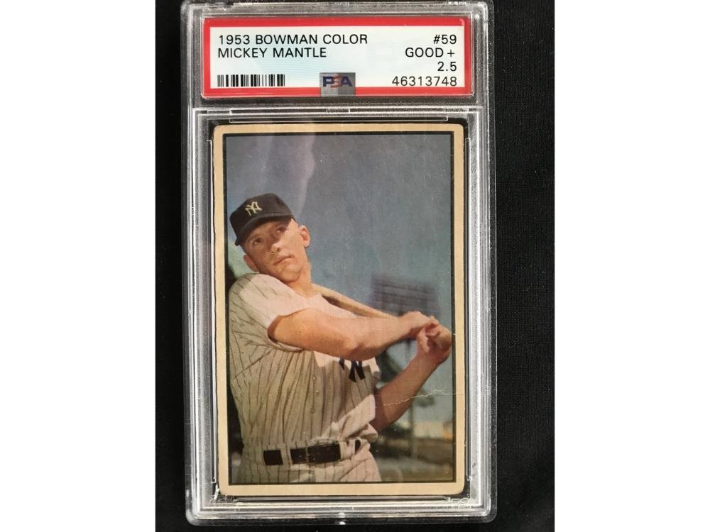 1953 Bowman Mickey Mantle Color Psa 2.5