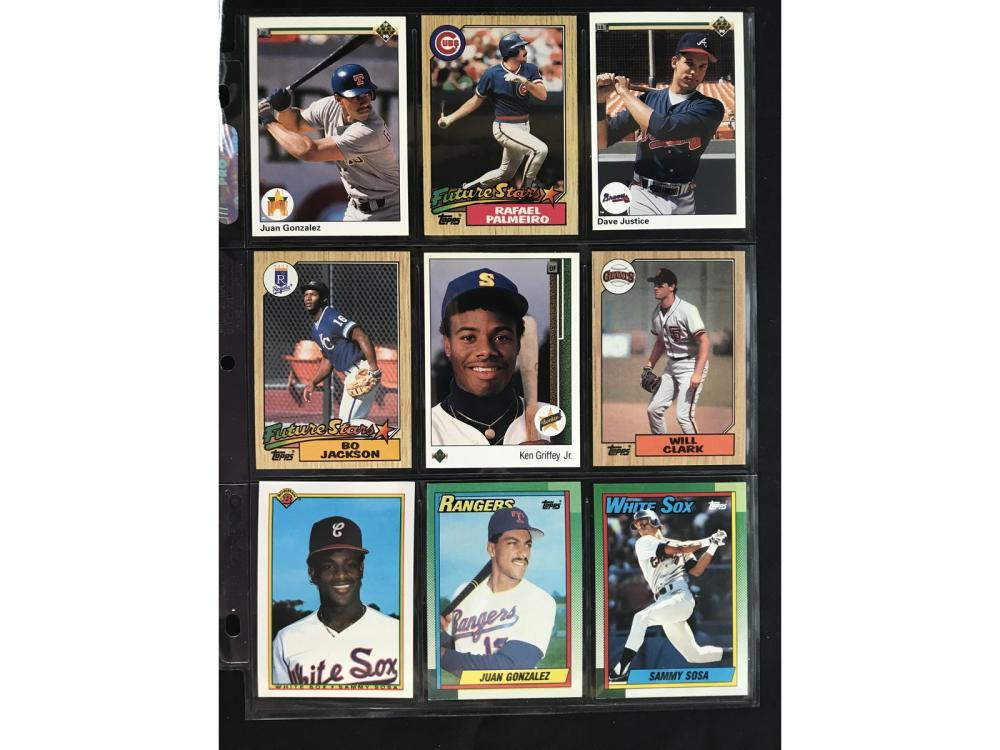 9 1980's And 90's Baseball Rookie Cards