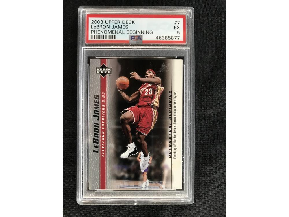 2003 Upper Deck Lebron James Psa 5