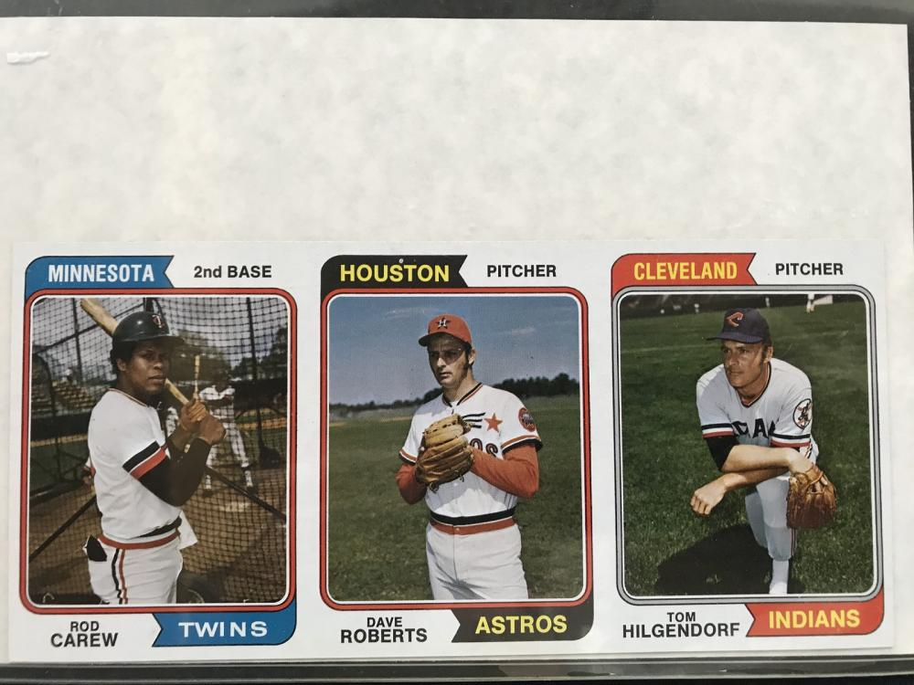 1974 Topps Baseball 3 Card Proof With Carew