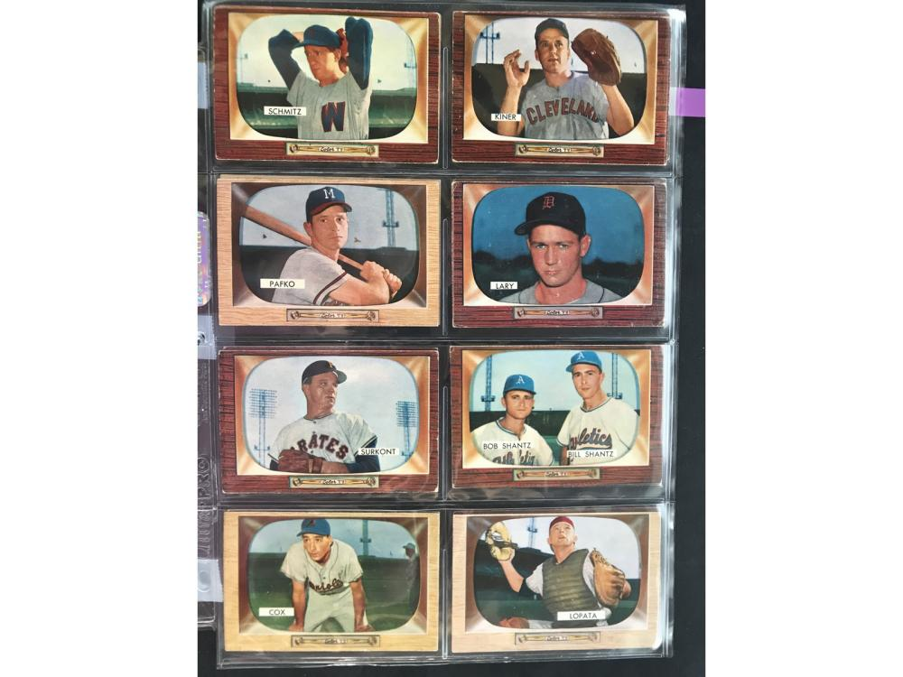 18 1955 Bowman Baseball Cards With Hof