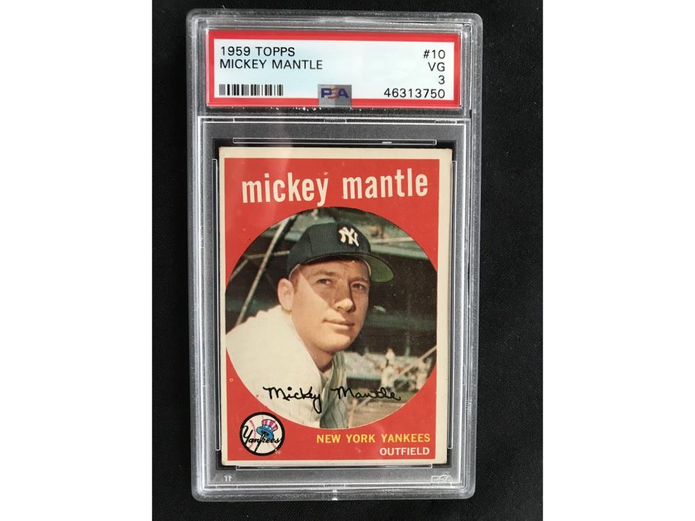 1959 Topps Mickey Mantle Psa 3