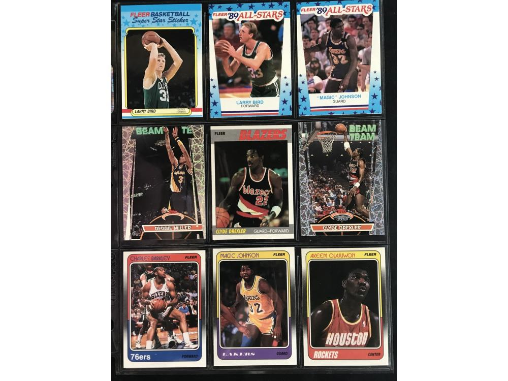 9 Nba Fleer Hof Basketball Cards