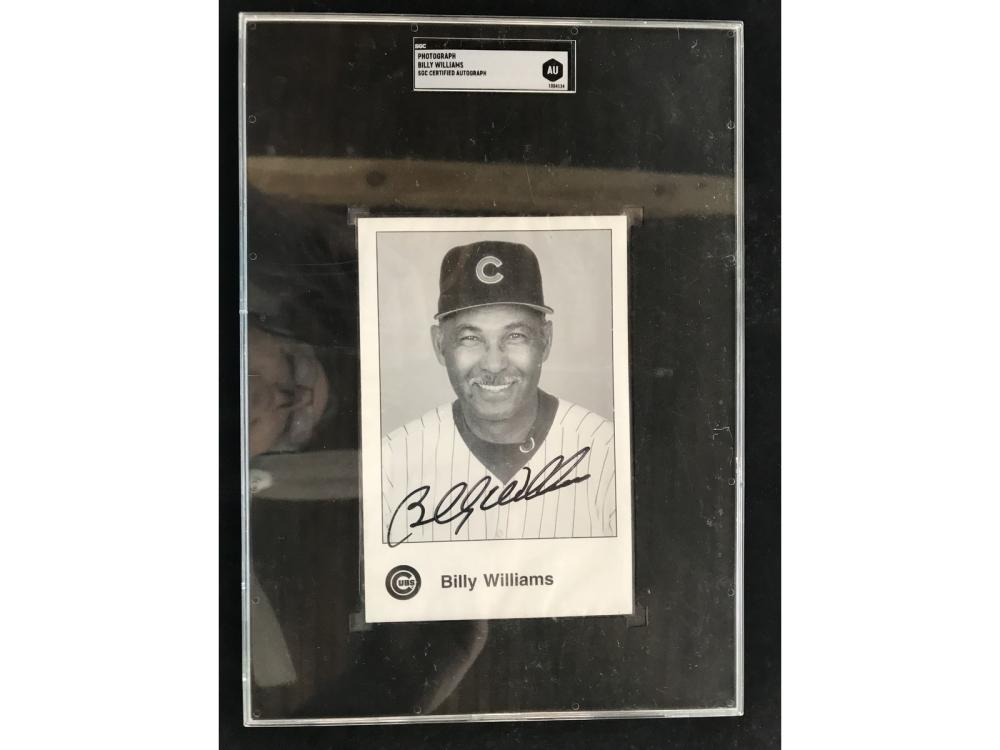 Billy Williams Signed Postcard Sgc Coa