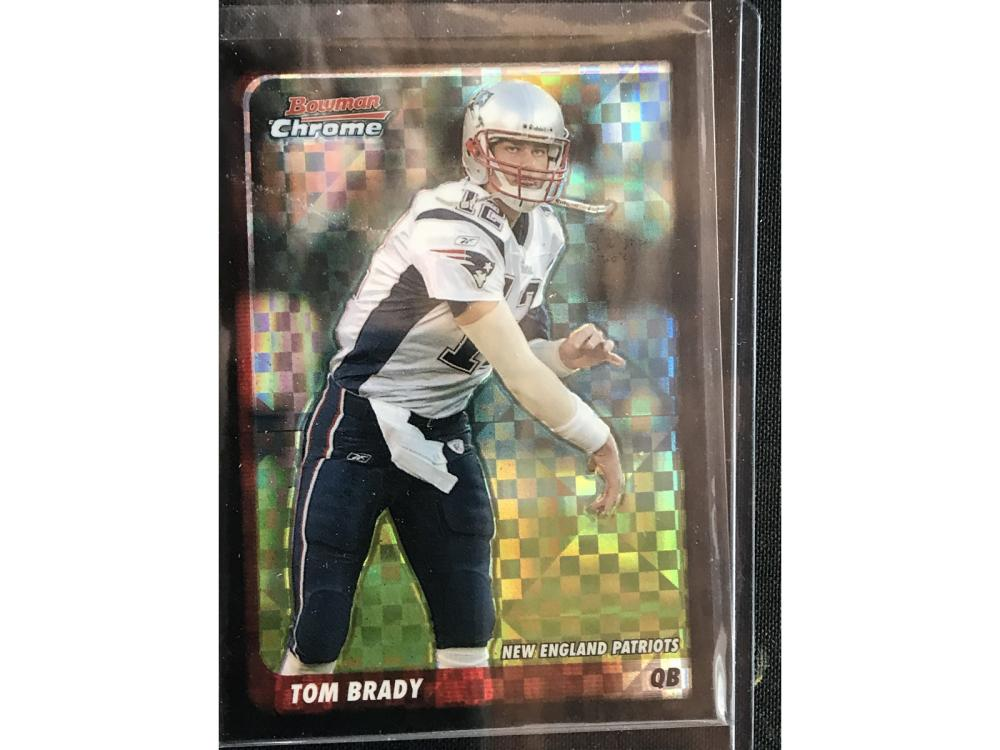 2003 Bowman Chrome Tom Brady Xfractor