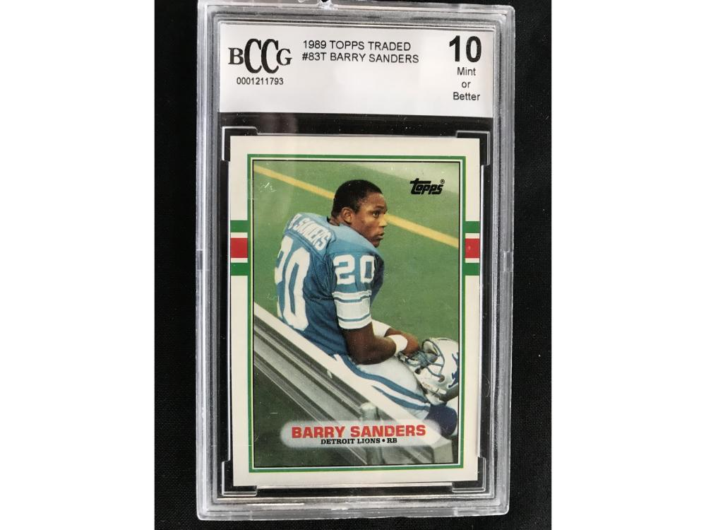 1989 Topps Traded Barry Sanders Bccg 10