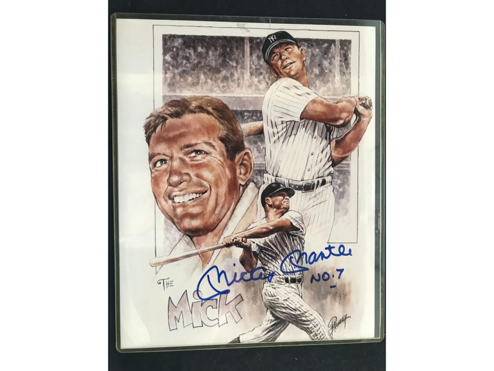Mickey Mantle Signed 8x10 Scoreboard Coa