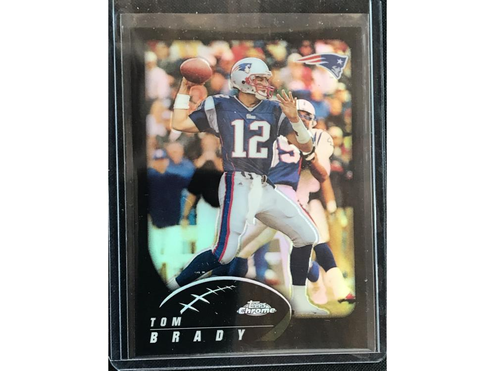 2002 Topps Chrome Refractor Tom Brady