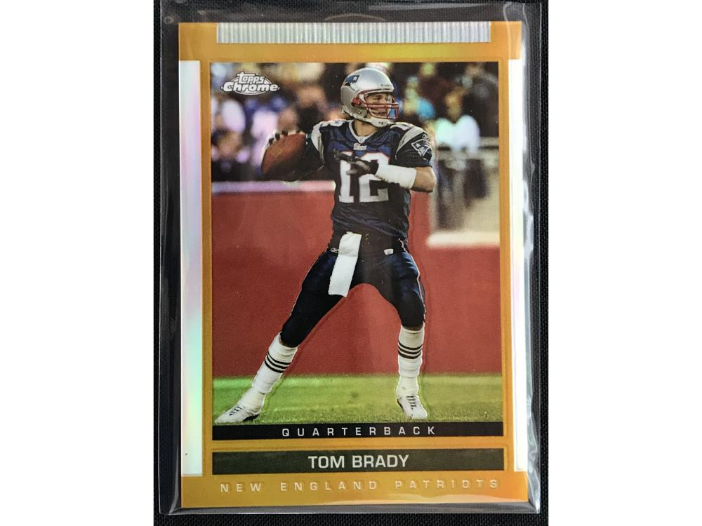 2003 Topps Chrome Tom Brady Gold Refractor