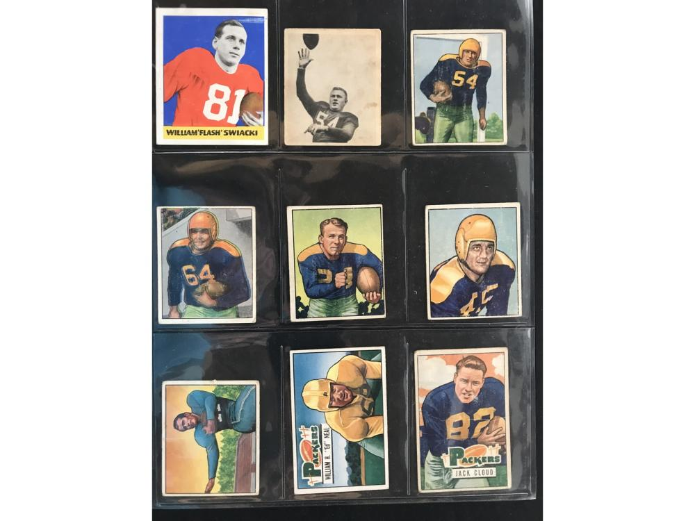 9 1948-1951 Football Cards Vg-ex