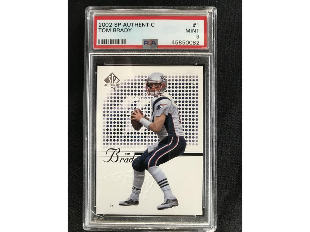 2002 Sp Authentic Tom Brady Psa 9