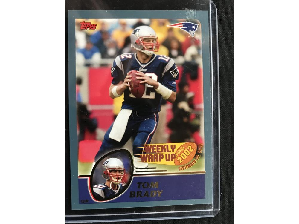 2002 Topps Weekly Wrap Up Tom Brady