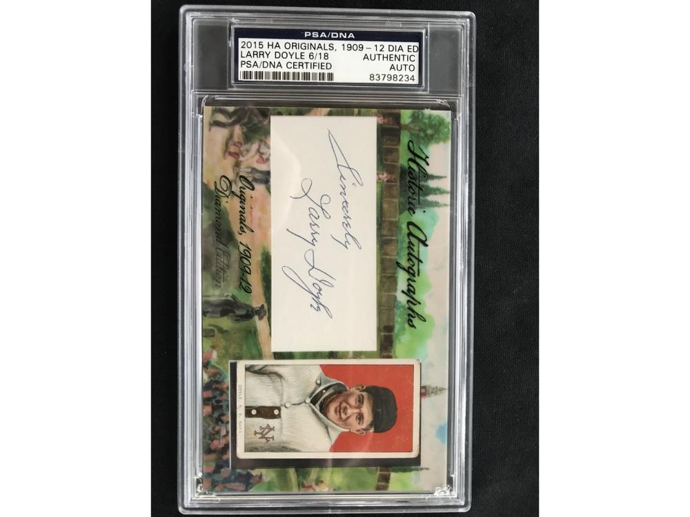 2015 Historic Autographs Larry Doyle Psa Coa